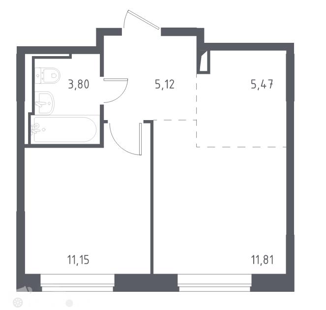 Продаётся 2-комнатная квартира в новостройке 38.0 кв.м. этаж 2/14 за 7 299 995 руб