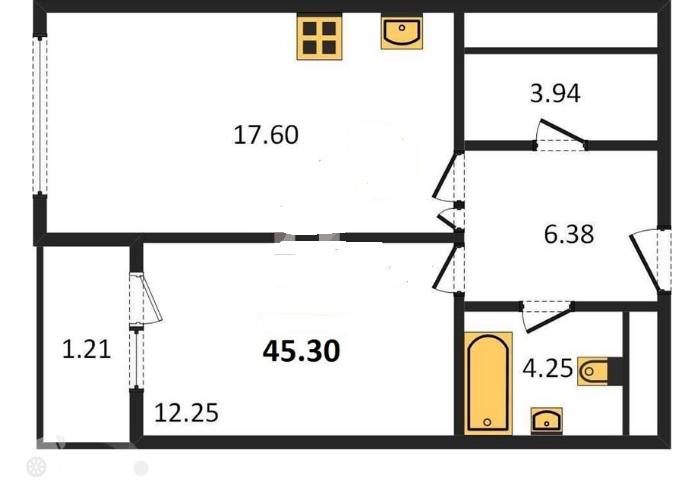 Продаётся 1-комнатная квартира в новостройке 46.0 кв.м. этаж 18/20 за 16 000 000 руб