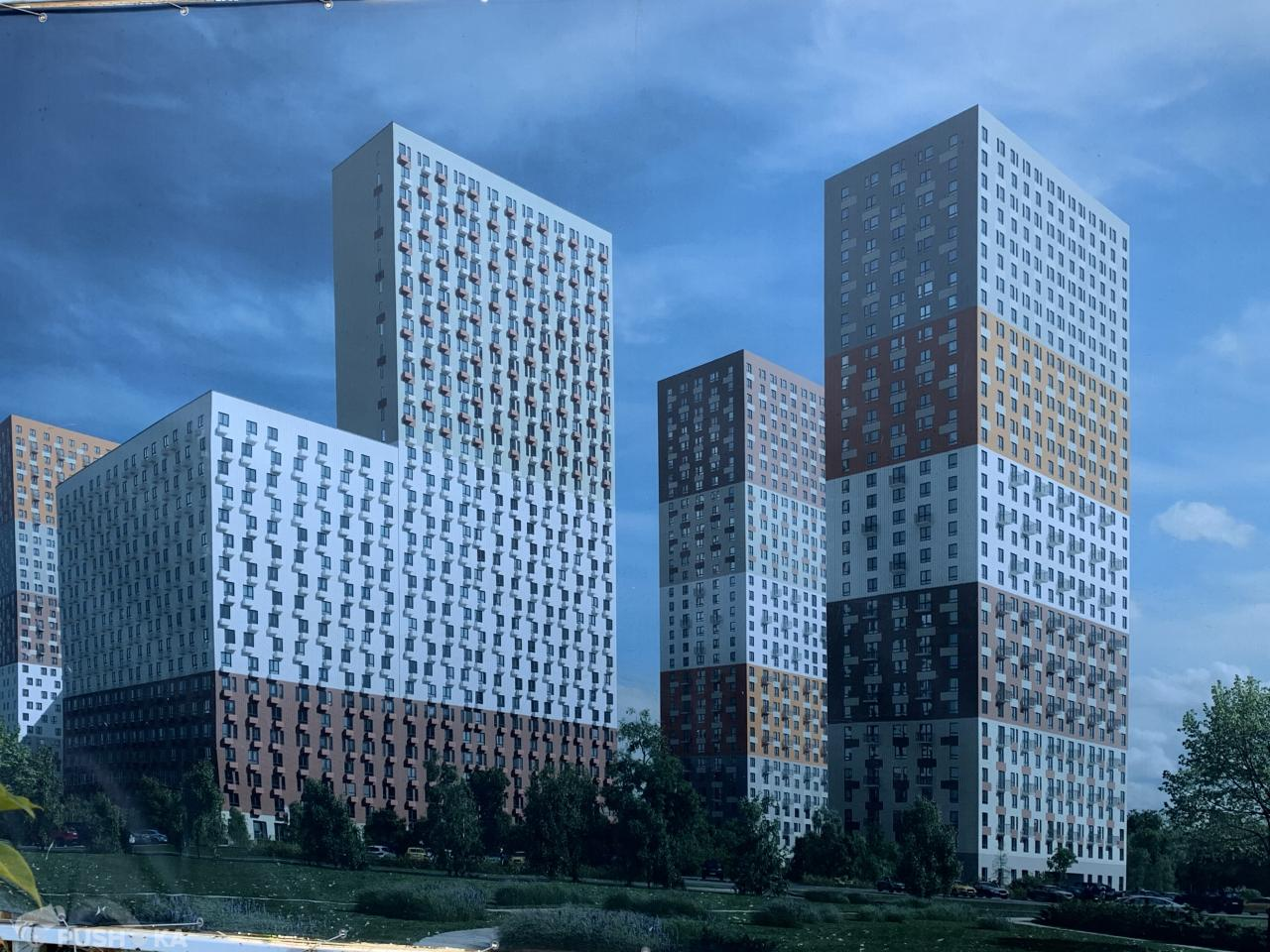 Продаётся 1-комнатная квартира 41.9 кв.м. этаж 4/33 за 7 650 000 руб