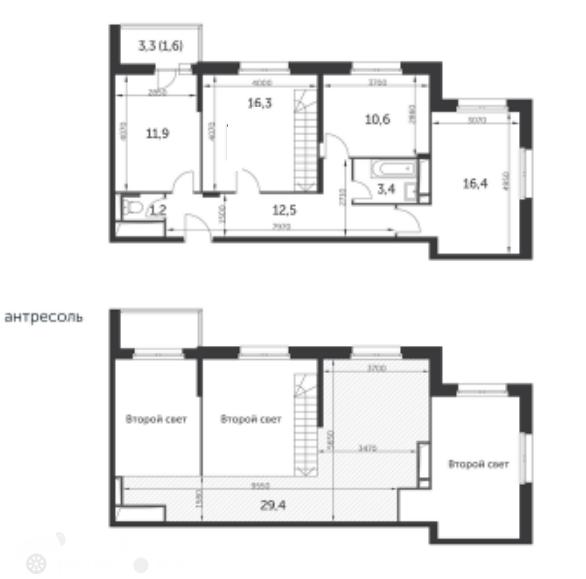 Продаётся 3-комнатная квартира в новостройке 105.0 кв.м. этаж 22/22 за 23 800 000 руб