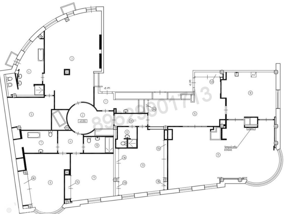 Продаётся 5-комнатная квартира 330.0 кв.м. этаж 5/8 за 390 000 000 руб