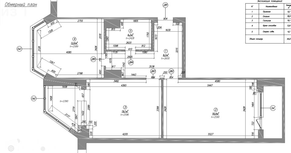 Продаётся 2-комнатная квартира 60.0 кв.м. этаж 4/17 за 18 000 000 руб