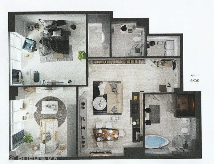 Продаётся 4-комнатная квартира 97.0 кв.м. этаж 5/6 за 35 000 000 руб