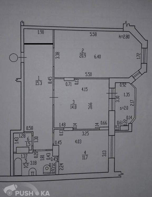 Продаётся 2-комнатная квартира 69.4 кв.м. этаж 12/15 за 4 250 000 руб