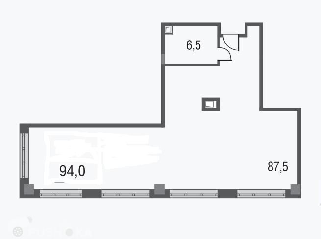 Продаётся 3-комнатная квартира в новостройке 94.0 кв.м. этаж 8/20 за 17 900 000 руб
