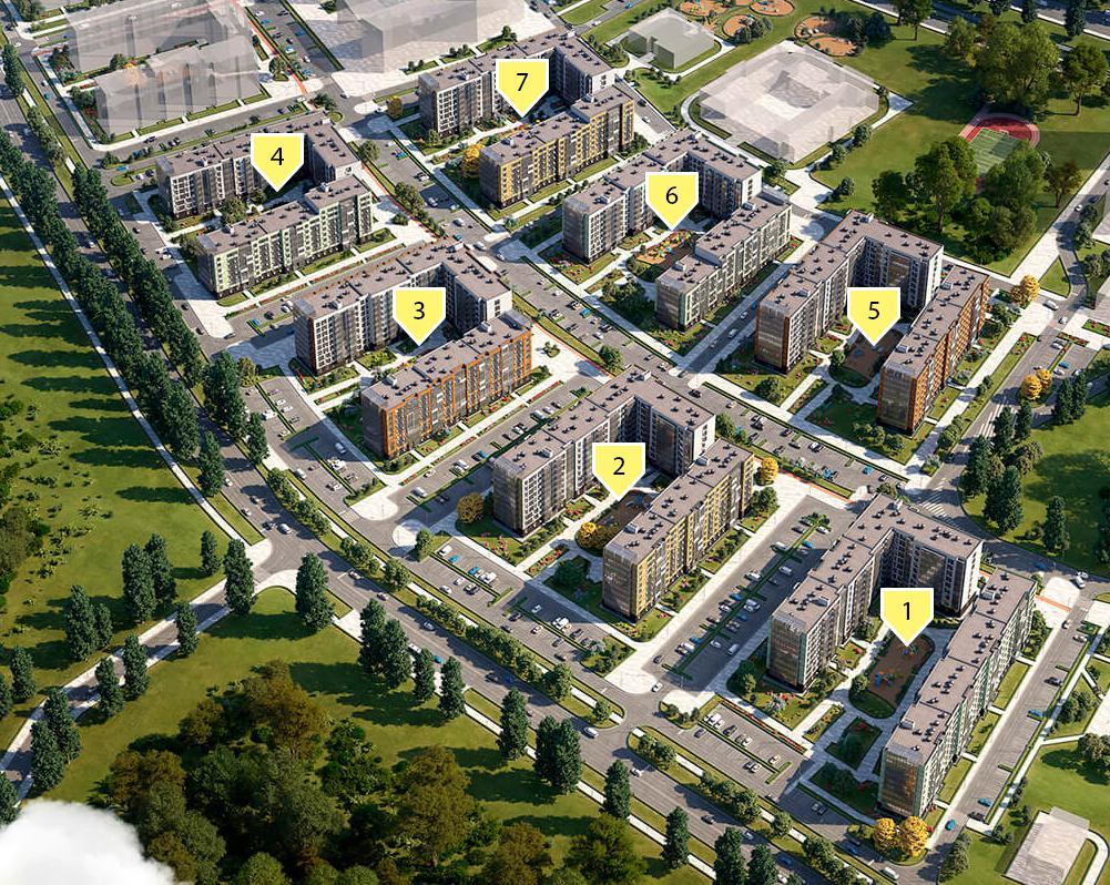 Продаётся 1-комнатная квартира в новостройке 38.7 кв.м. этаж 7/9 за 4 734 743 руб