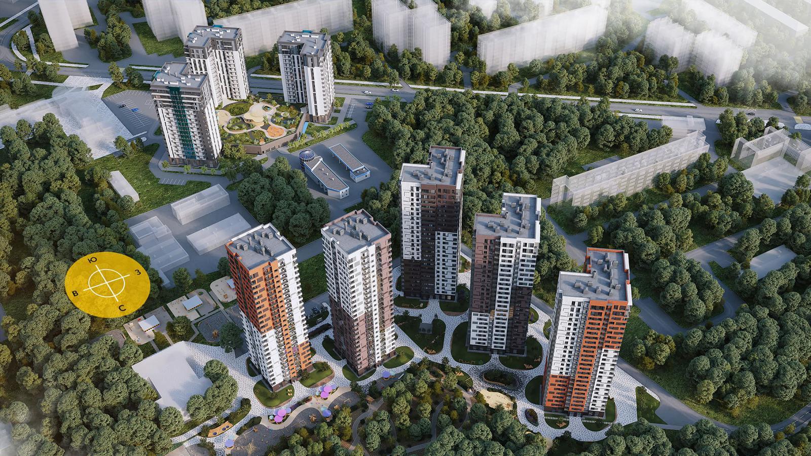 Продаётся 2-комнатная квартира в новостройке 42.0 кв.м. этаж 9/25 за 9 670 013 руб