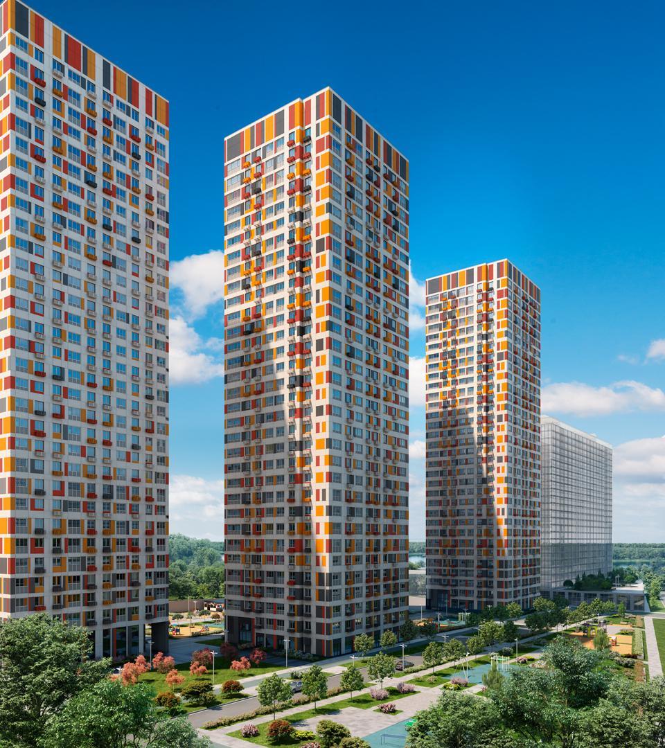Продаётся 1-комнатная квартира в новостройке 32.9 кв.м. этаж 29/32 за 7 893 401 руб