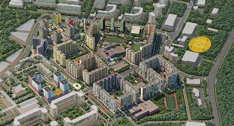 Продаётся 2-комнатная квартира в новостройке 61.1 кв.м. этаж 2/18 за 9 158 897 руб
