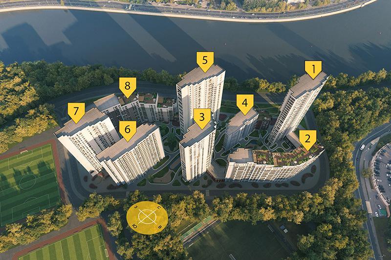 Продаётся 1-комнатная квартира в новостройке 43.6 кв.м. этаж 13/29 за 15 953 362 руб
