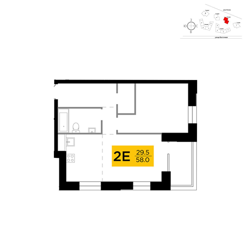 Продаётся 2-комнатная квартира в новостройке 58.0 кв.м. этаж 9/19 за 24 706 899 руб