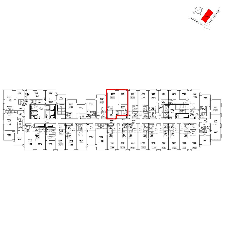 Продаётся  квартира-студия 84.5 кв.м. этаж 9/19 за 36 774 900 руб