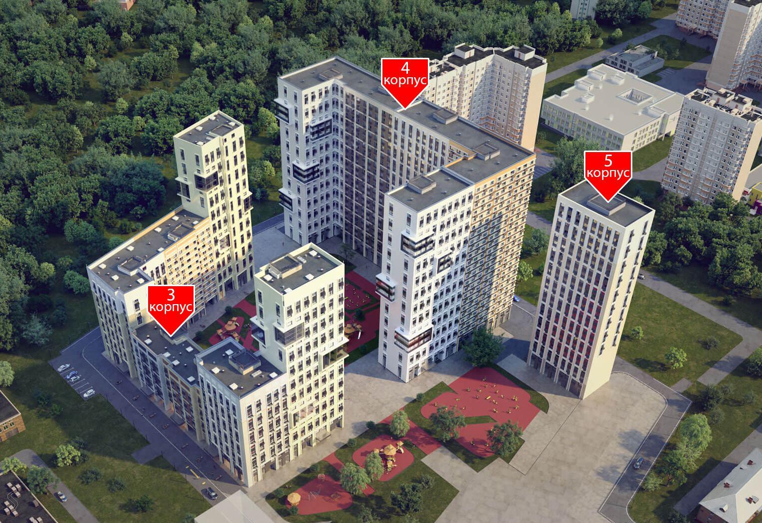 Продаётся 3-комнатная квартира в новостройке 94.8 кв.м. этаж 22/24 за 19 760 200 руб