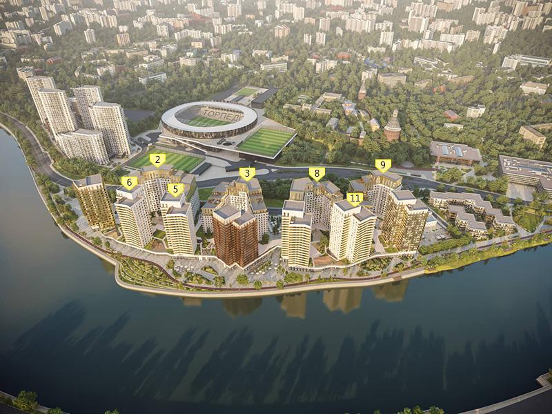 Продаётся 4-комнатная квартира в новостройке 107.6 кв.м. этаж 8/16 за 40 116 044 руб