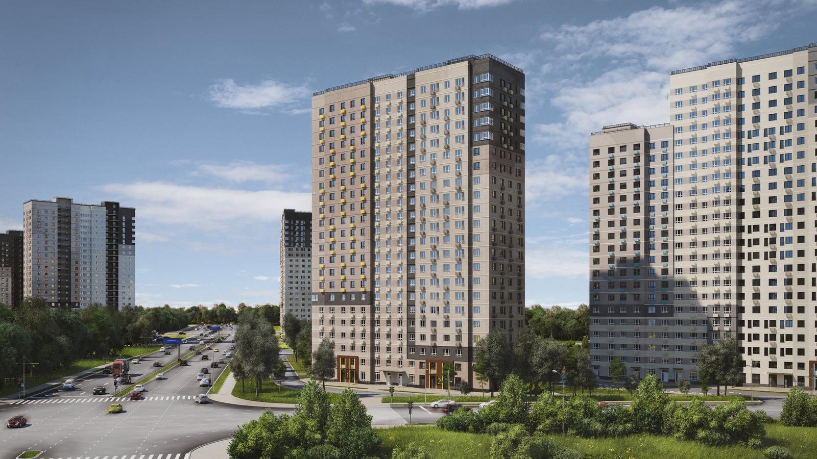 Продаётся 1-комнатная квартира в новостройке 33.8 кв.м. этаж 18/22 за 5 868 424 руб