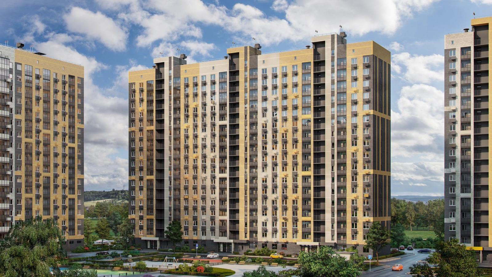 Продаётся 1-комнатная квартира в новостройке 38.1 кв.м. этаж 16/17 за 3 854 327 руб