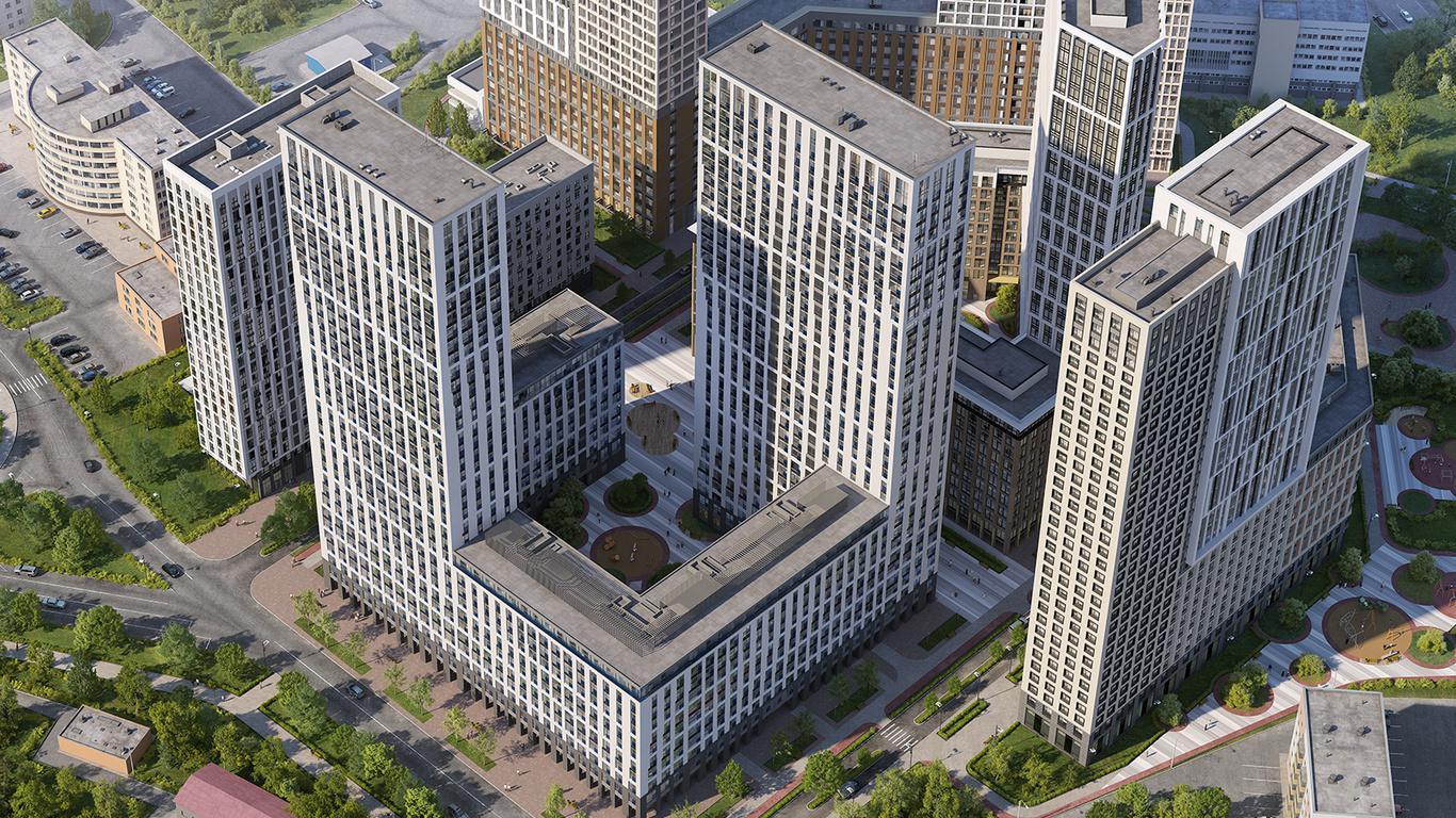 Продаётся 1-комнатная квартира в новостройке 44.4 кв.м. этаж 32/35 за 14 335 400 руб