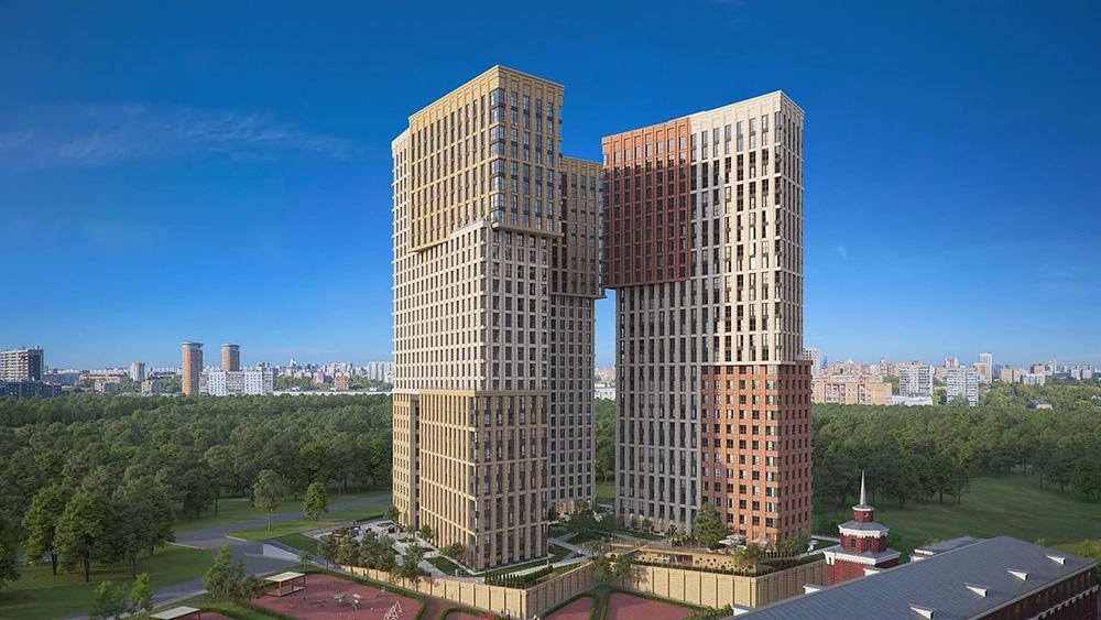 Продаётся 1-комнатная квартира в новостройке 35.3 кв.м. этаж 25/27 за 14 135 293 руб