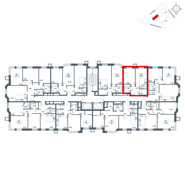 Продаётся  квартира-студия 39.4 кв.м. этаж 19/21 за 12 119 440 руб