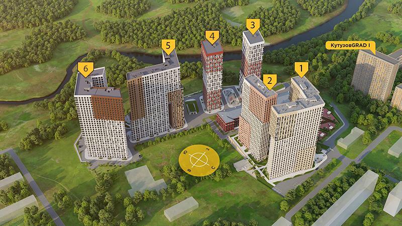 Продаётся 2-комнатная квартира в новостройке 52.0 кв.м. этаж 3/29 за 16 722 499 руб