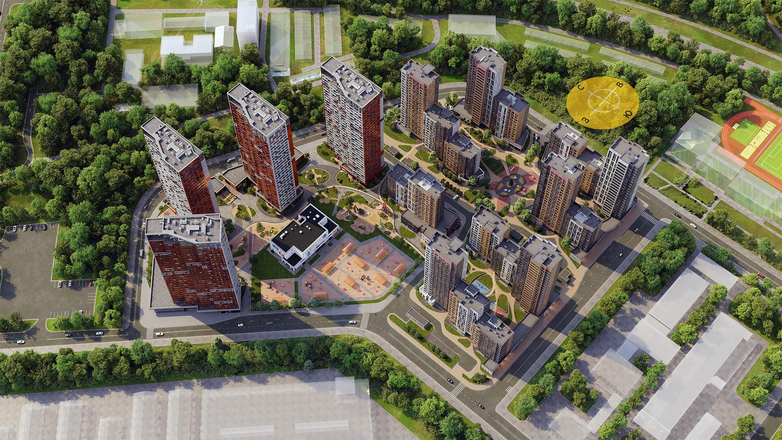Продаётся 1-комнатная квартира в новостройке 36.6 кв.м. этаж 9/22 за 10 375 014 руб