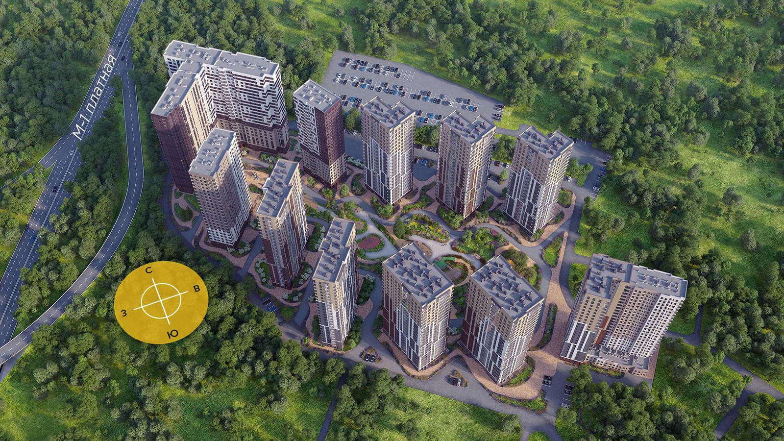 Продаётся 2-комнатная квартира в новостройке 53.7 кв.м. этаж 13/24 за 4 801 586 руб