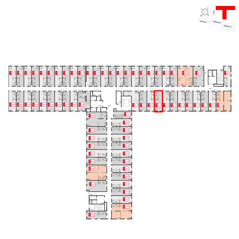 Продаётся  квартира-студия 24.8 кв.м. этаж 2/17 за 2 180 640 руб
