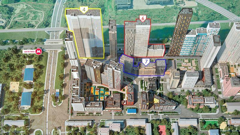 Продаётся 2-комнатная квартира в новостройке 67.3 кв.м. этаж 42/51 за 22 481 540 руб