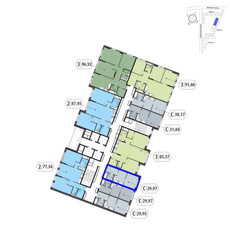 Продаётся  квартира-студия 30.0 кв.м. этаж 22/32 за 9 200 790 руб