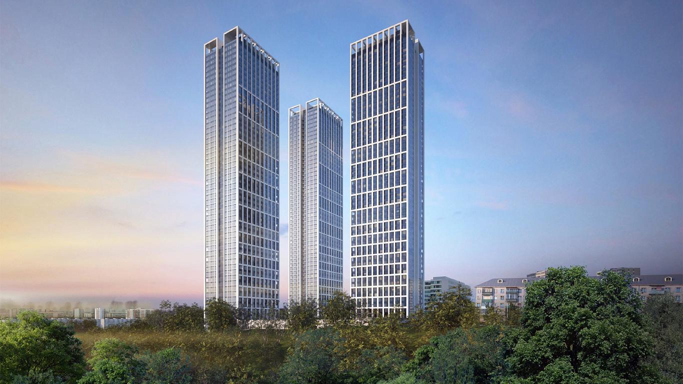 Продаётся  квартира-студия 27.6 кв.м. этаж 25/51 за 9 658 583 руб