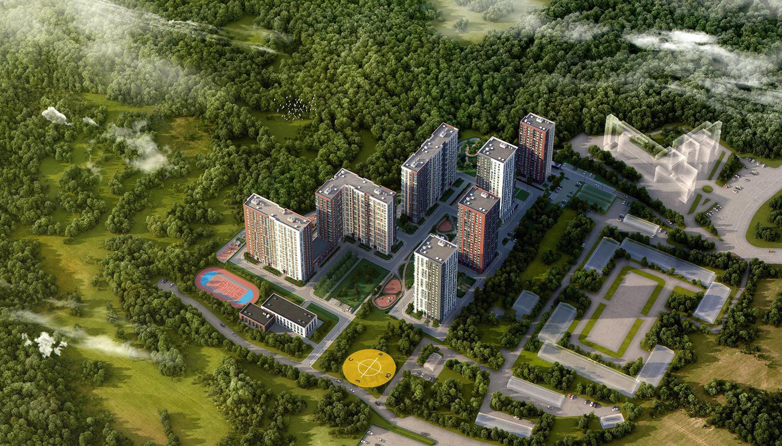 Продаётся 2-комнатная квартира в новостройке 51.2 кв.м. этаж 10/19 за 16 071 435 руб