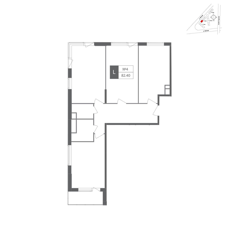 Продаётся 3-комнатная квартира в новостройке 82.0 кв.м. этаж 8/12 за 25 320 062 руб