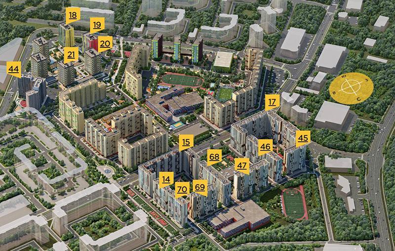 Продаётся 2-комнатная квартира в новостройке 68.1 кв.м. этаж 11/17 за 6 306 060 руб