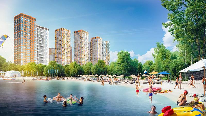 Продаётся 2-комнатная квартира в новостройке 54.5 кв.м. этаж 12/33 за 0 руб