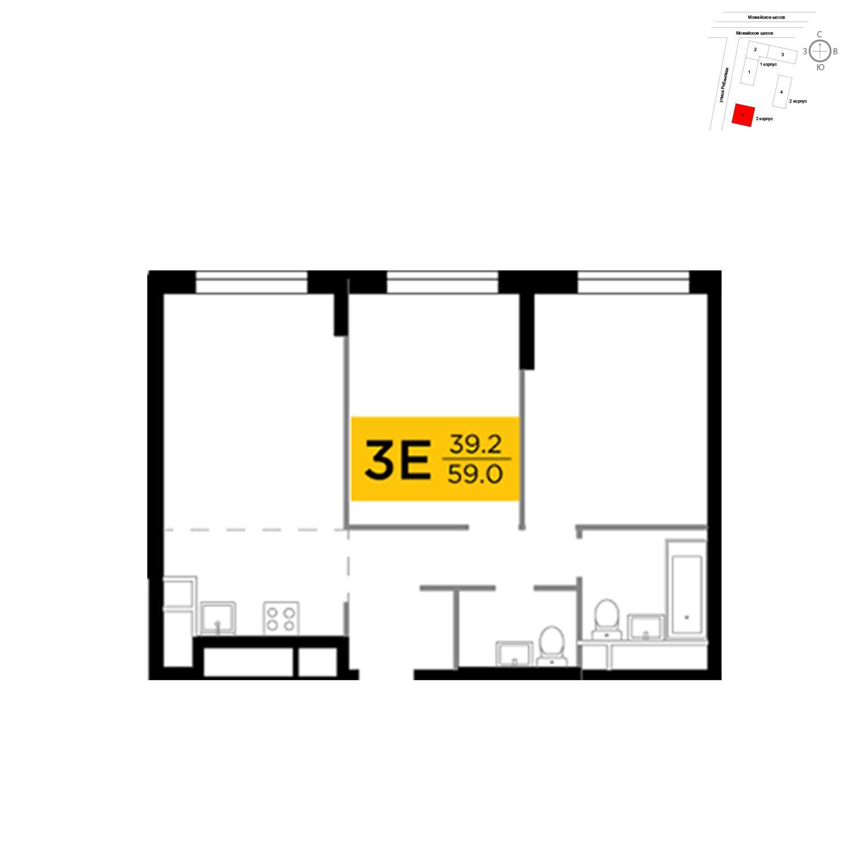 Продаётся 3-комнатная квартира в новостройке 59.0 кв.м. этаж 16/29 за 13 406 000 руб