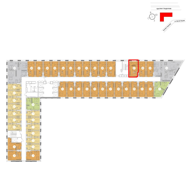 Продаётся  квартира-студия 29.8 кв.м. этаж 19/25 за 10 263 356 руб