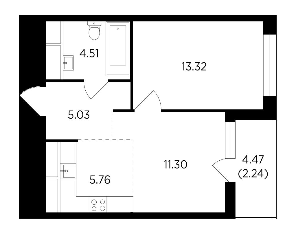 Продаётся 2-комнатная квартира в новостройке 42.2 кв.м. этаж 22/25 за 8 199 909 руб