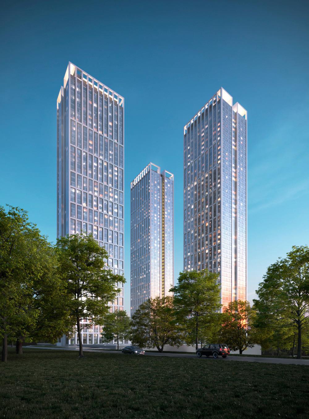 Продаётся 1-комнатная квартира в новостройке 48.8 кв.м. этаж 36/51 за 16 784 570 руб