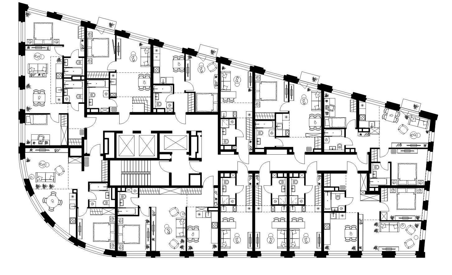 Продаётся 2-комнатная квартира в новостройке 55.4 кв.м. этаж 2/26 за 18 679 662 руб