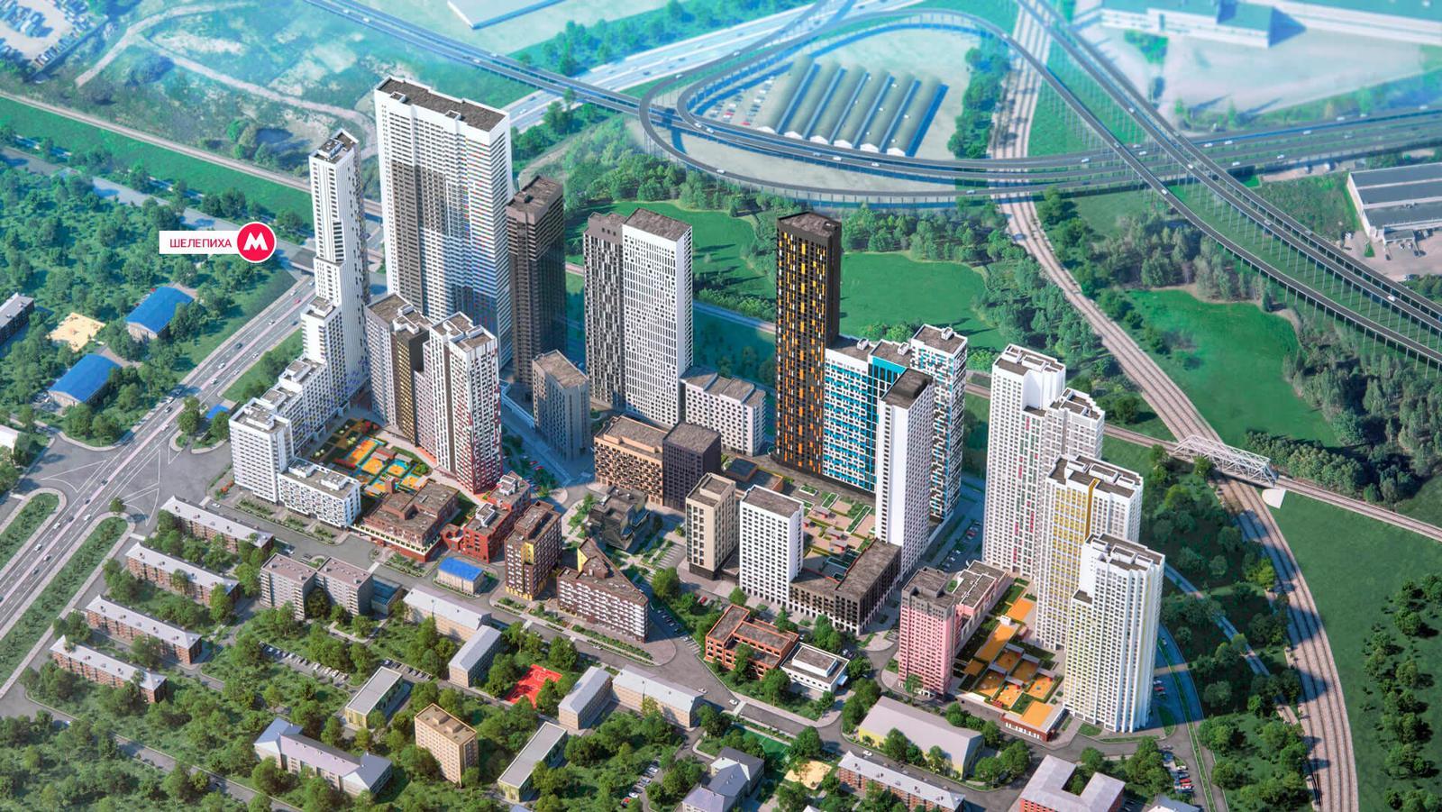 Продаётся 2-комнатная квартира в новостройке 65.0 кв.м. этаж 21/51 за 18 056 100 руб