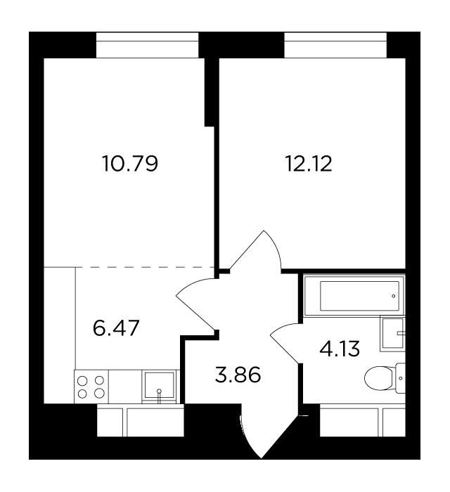 Продаётся 2-комнатная квартира в новостройке 37.4 кв.м. этаж 11/30 за 12 995 429 руб