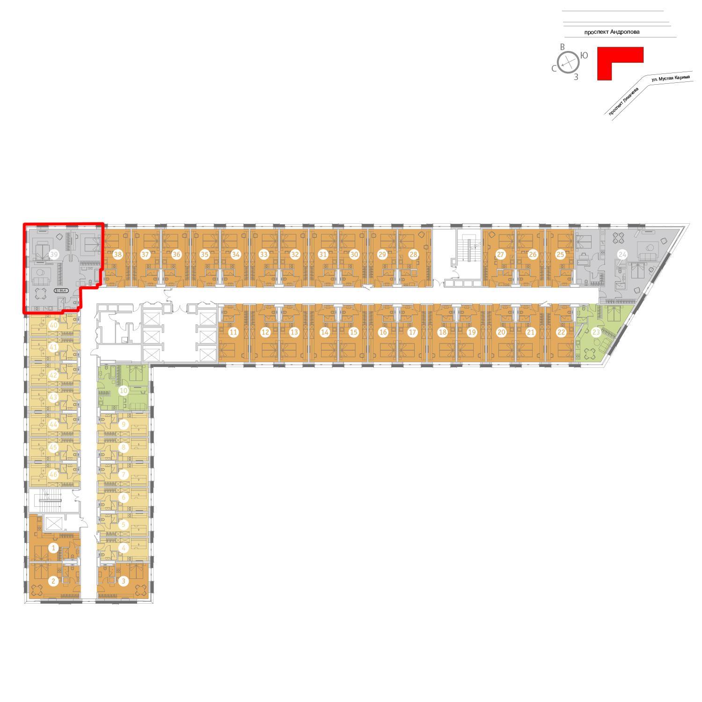 Продаётся 3-комнатная квартира в новостройке 86.5 кв.м. этаж 21/25 за 22 684 408 руб
