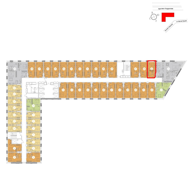 Продаётся  квартира-студия 25.8 кв.м.  за 9 109 072 руб