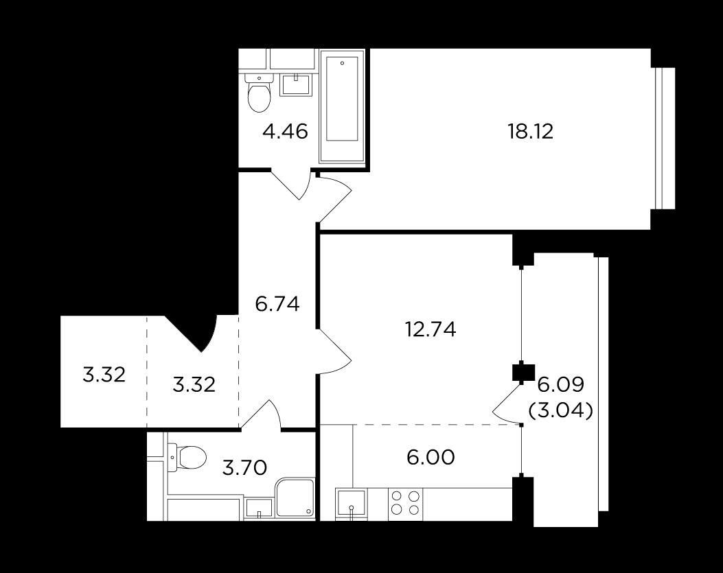 Продаётся 2-комнатная квартира в новостройке 61.4 кв.м. этаж 16/29 за 23 843 742 руб
