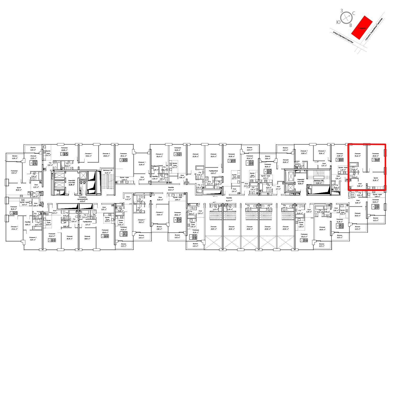 Продаётся 2-комнатная квартира в новостройке 80.5 кв.м. этаж 12/19 за 33 826 800 руб