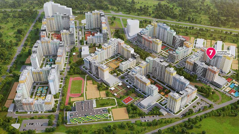 Продаётся 1-комнатная квартира в новостройке 37.6 кв.м. этаж 12/19 за 10 020 400 руб
