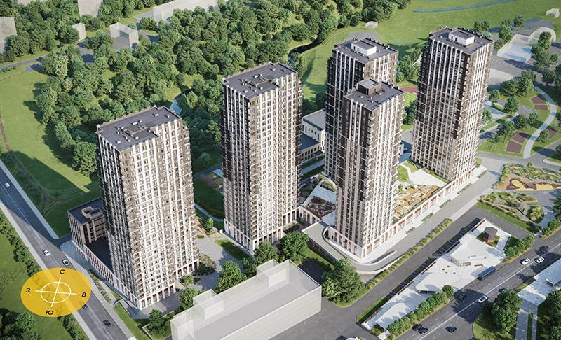 Продаётся 1-комнатная квартира в новостройке 41.8 кв.м. этаж 22/26 за 17 502 388 руб