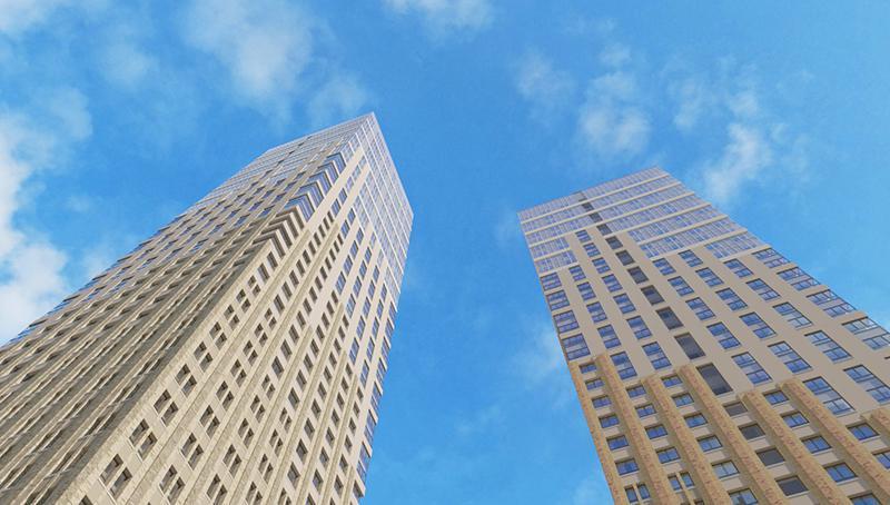 Продаётся 2-комнатная квартира в новостройке 63.6 кв.м. этаж 13/43 за 13 298 345 руб