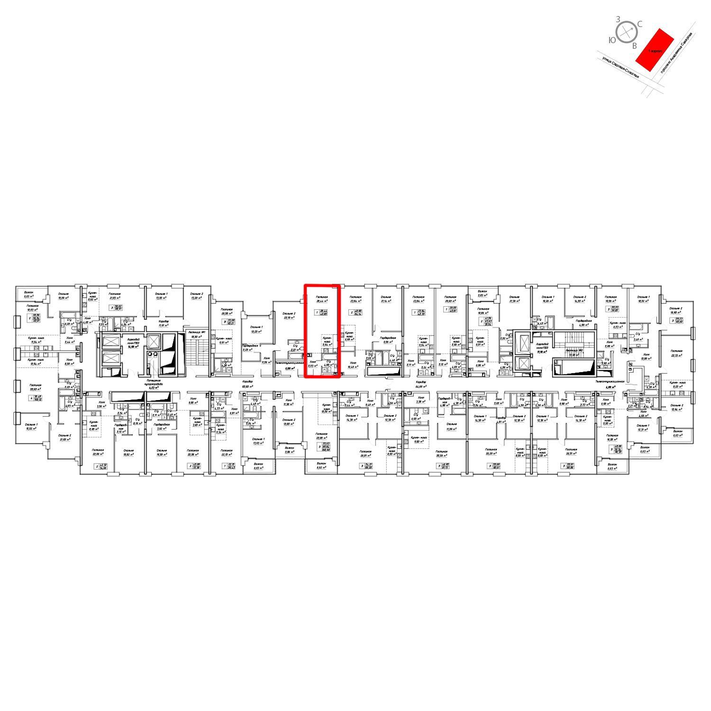 Продаётся  квартира-студия 44.0 кв.м. этаж 10/19 за 18 496 800 руб