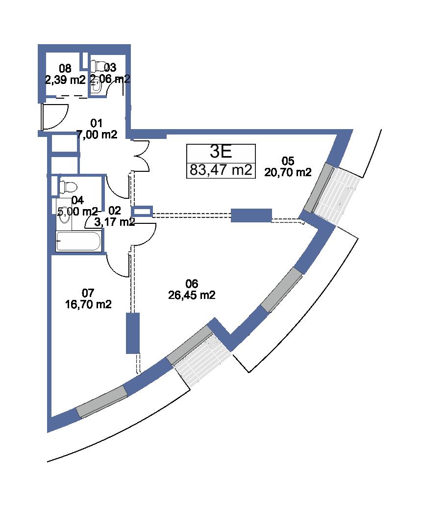 Продаётся 3-комнатная квартира в новостройке 84.4 кв.м. этаж 8/40 за 11 143 462 руб